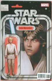 Star Wars #1 Luke Skywalker Christopher Action Figure Variant Edition (2015) Marvel comic book